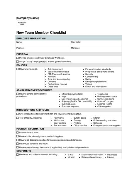 employee induction orientation new employee orientation checklist template background