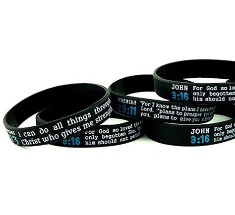 scripture silicone bracelets bulk 10 pack jeremiah 29