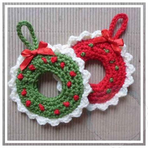 creative crochet workshop christmas wreath tree ornament