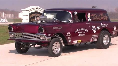 nomad drag car old 56 chevy race car youtube