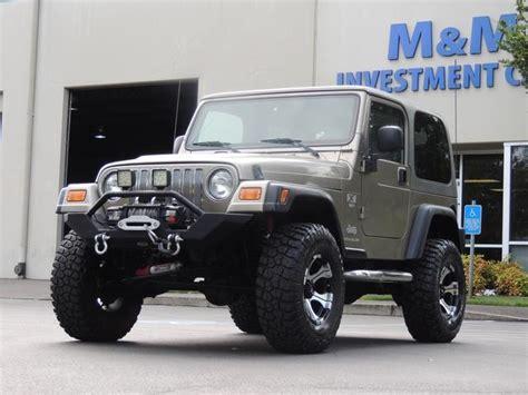 2003 Jeep Wrangler Hardtop 2003 Jeep Wrangler Manual Top Smitty Winch 4wd