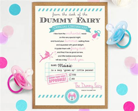 Dummy Fairy Letter Letter from the Dummy Fairy Custom Dummy