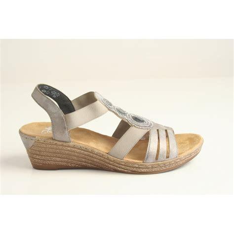 grey sandal wedges rieker rieker grey wedge sandal with diamante detail and