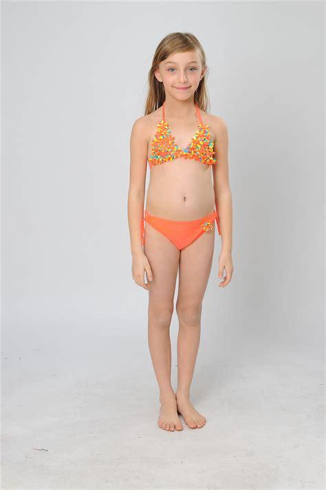 child girl swimwear bikinis children suits summer flower girls condole children