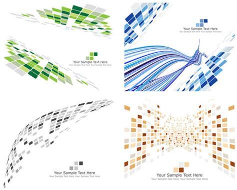 pattern technology vector 4 designer dynamic technology box pattern background