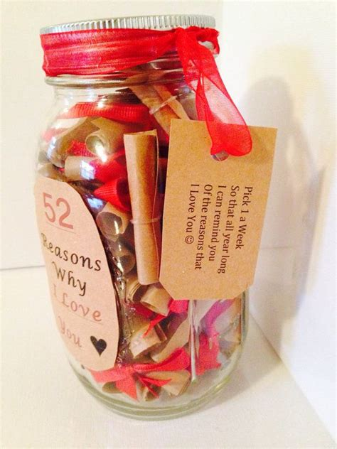 themes love jar 52 reasons why i love you gift in a jar jars creative
