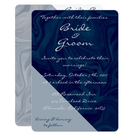 midnight blue wedding invitations midnight blue grey watercolor wedding invitation zazzle