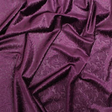 curtain velvet fabric embossed floral damask dress cushion curtain matching