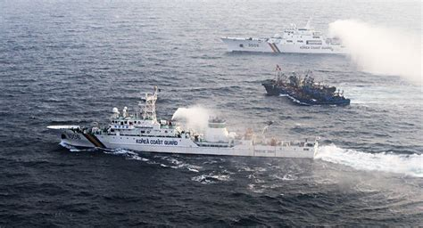 boat us east coast alerts south korean military shuts down chinese illegal fishing