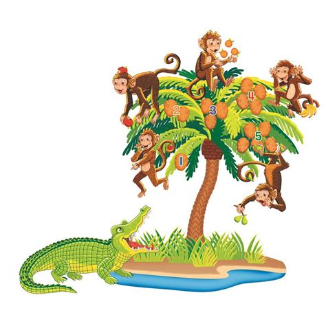 five cheeky monkeys swinging in a tree five little monkeys sitting in a tree pre cut felt