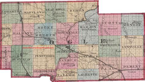 Ogle County Search Ogle County Illinois 1870 Map