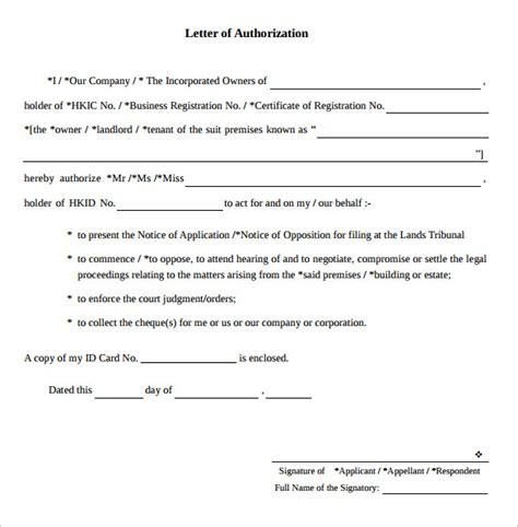 authorization letter pdf sle letter of authorization 9 free documents in pdf