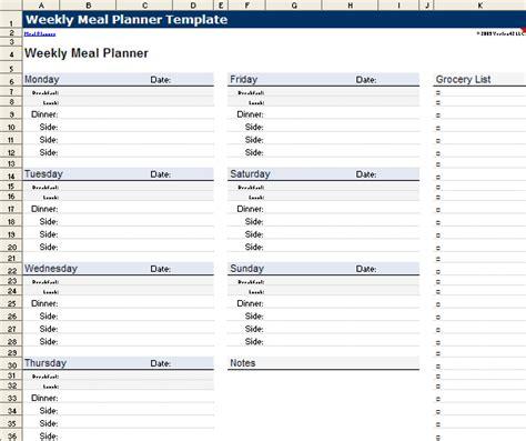 menu in under minutes plan menu planner template excel your weekly