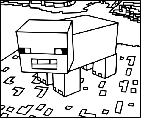 minecraft coloring pages cake coloriage cochon minecraft 224 imprimer