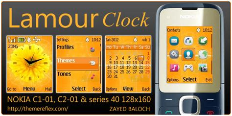 themes nokia mobile c1 lamour clock theme for nokia c1 01 c2 00 themereflex