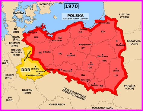 map of east and west germany with cities alternative poland and east germany 1970 by matritum on