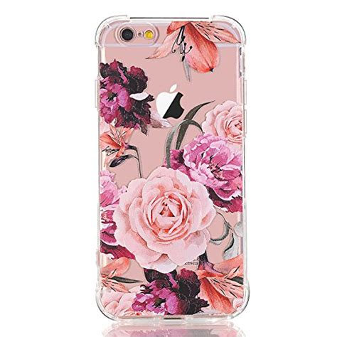 Casing Bunga Iphone 6 6s Softcase Flowers Slim Clear Iphone6 iphone 6 plus iphone 6s plus with flowers luolnh slim shockproof clear floral pattern