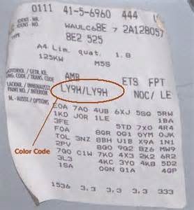 audi touch up paint color code and directions for audi