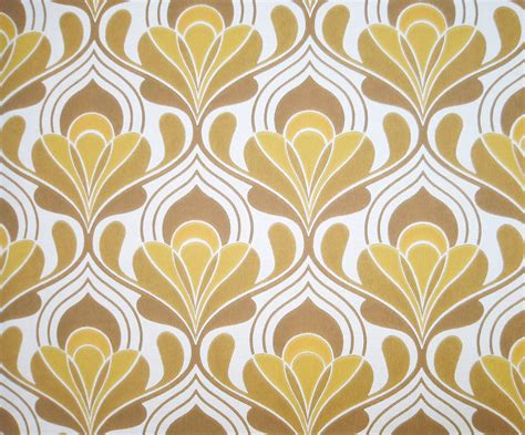 wallpaper design europe vintage wallpaper brown hourglass retro lines 1970s