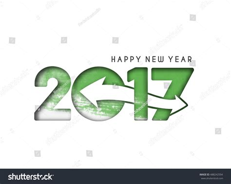 happy new year text vector happy new year 2017 text design stock vector 488242594
