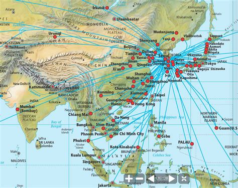 batik air route map airlinetrends 187 innovative airlines 2012 1 korean air