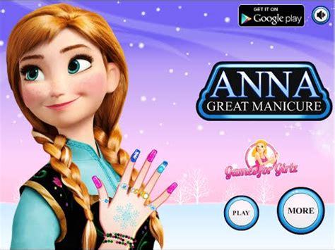 Disney Frozen Games- Anna Great Manicure- Fun Online ... Kids Games For Girls Disney Free Online