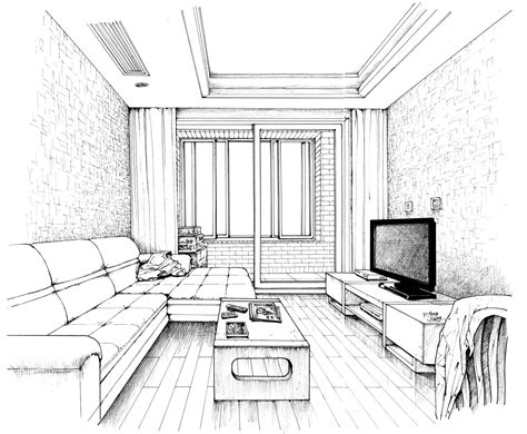 Interior House Drawing by Interior Drawing By Jyf1982 On Deviantart