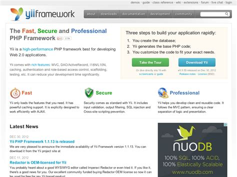 yii query tutorial best php mvc frameworks of 2013 jonathanmh