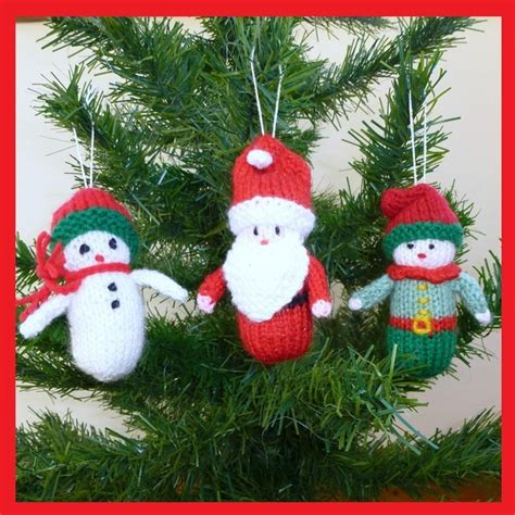 images of knitted christmas decorations 3 knitted christmas decorations 163 10 00 natal pinterest