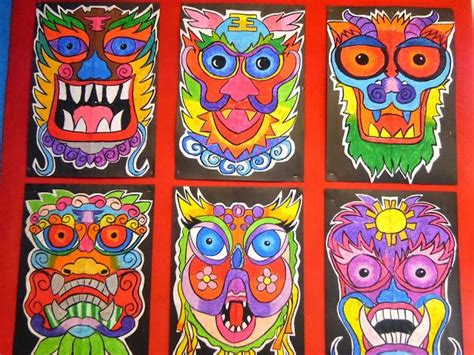 new year mask lesson 17 best images about cultural projects on