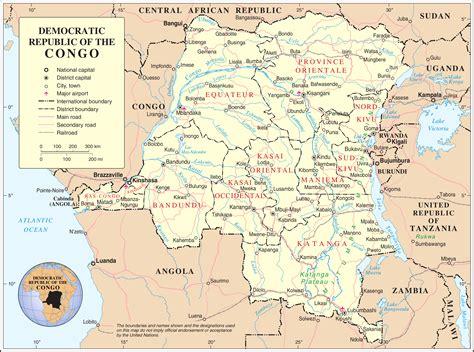 congo map democratic republic of the congo provinces map