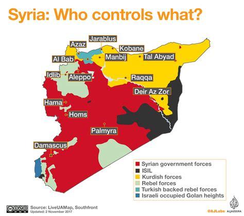 syrian war map syria who controls what al jazeera