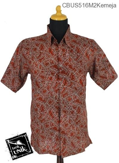 sarimbit kemeja motif serat daun kemeja lengan pendek murah batikunik