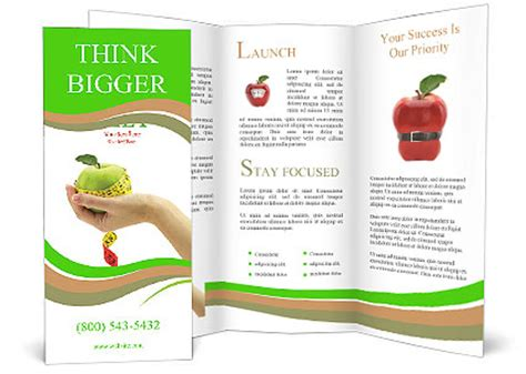 apple brochure templates dietary food apple brochure template design id