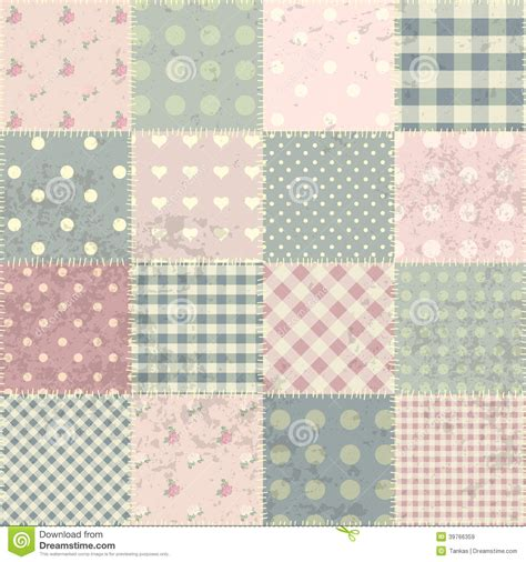 patchwork in style shabby chic stock vector image 39766359