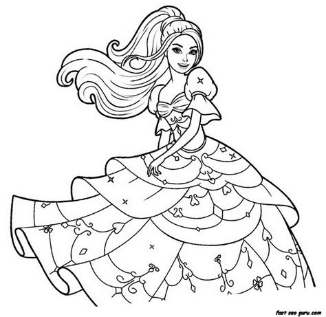 Print Out Barbie Beautiful Dress Coloring Pages Free Coloring Pages To Print Out