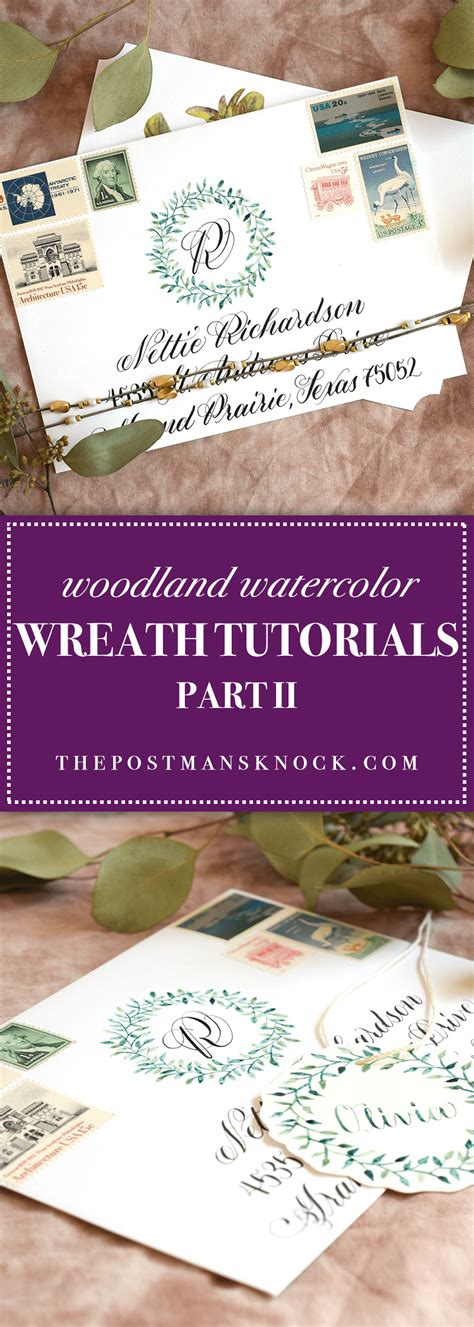 watercolor tutorial reddit woodland watercolor wreath tutorials part ii the