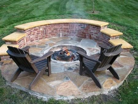 backyard brick fire pit plans for a homemade fire pit 171 floor plans