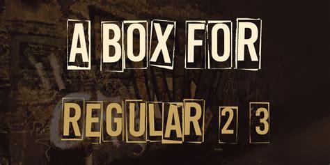 box  font family befontscom