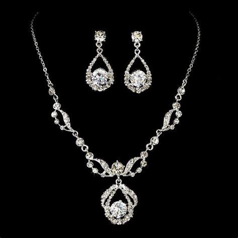 jewelry toronto couture silver plated rhinestone wedding jewelry set