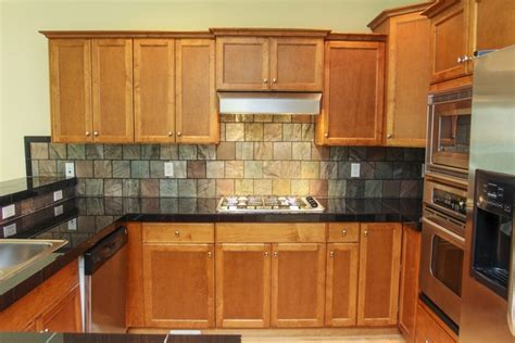 backsplash with slate tile 6x6 kitchen ideas