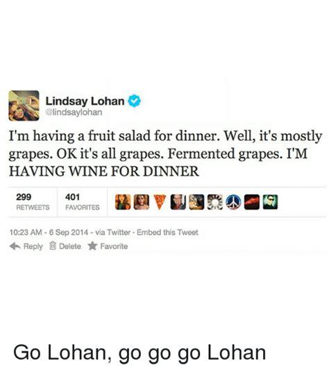 Fruit Salad For Dinner Meme - 25 best memes about lindsaylohan lindsaylohan memes