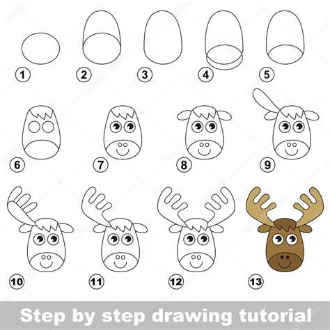 tutorial wapiti como desenhar um alce engra 231 ado vetor de stock 169 anna