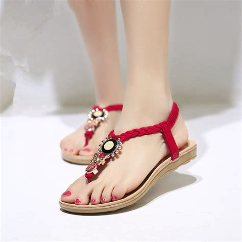 summer sandals 2015 flat sandals for ankle casual summer shoes