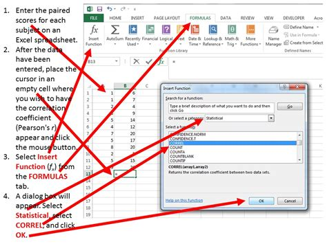Excel Spreadsheet To Graph by Using Excel To Calculate And Graph Correlation Data