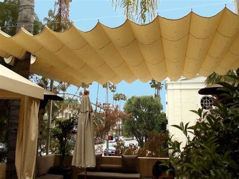 fabric patio awnings diy retractable pergola cover fashionable design ideas