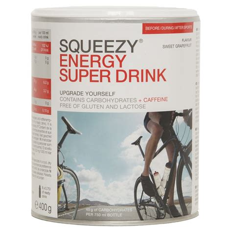 400g carbohydrates squeezy energy drink carbohydrate beverage powder