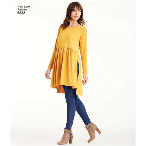 A Looka Looksome New Products by New Look Pattern 6533 Misses Babydoll Top With