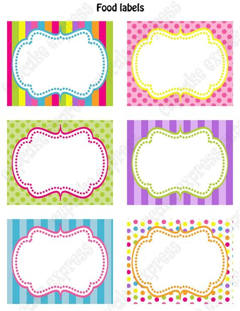 printable labels online diy candy shoppe birthday party printable food labels pink