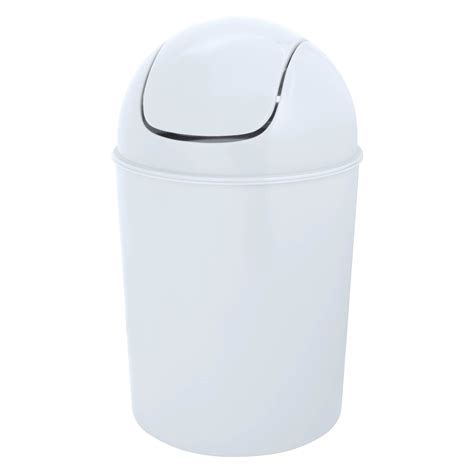 White Plastic Bathroom Bin by Flip Top White Plastic Bathroom Bin 5l Departments